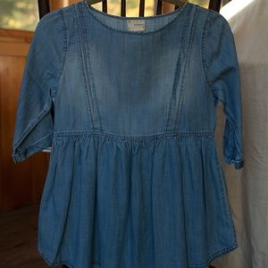 Coincidence & Chance Chambray Babydoll Top